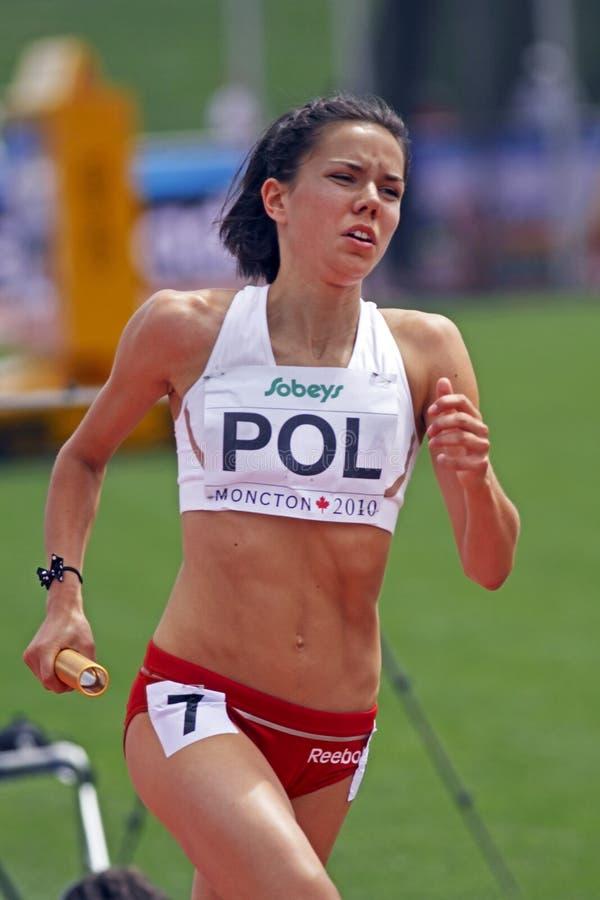 för poland för räkneverk 4x400 kvinnor relay royaltyfri bild