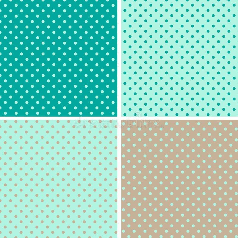 För polkaprick för modell seamless bakgrund royaltyfri illustrationer