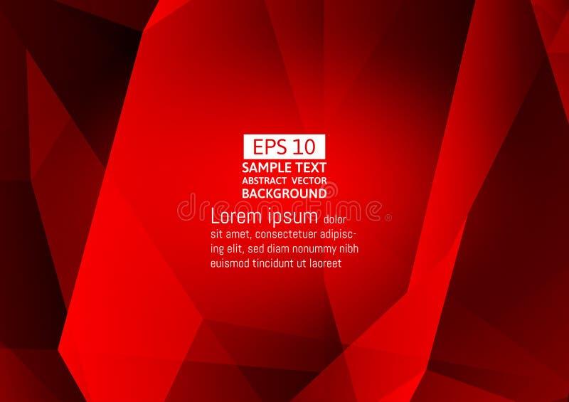 För polygonabstrakt begrepp för röd färg design för bakgrund för vektor modern med kopieringsutrymme stock illustrationer