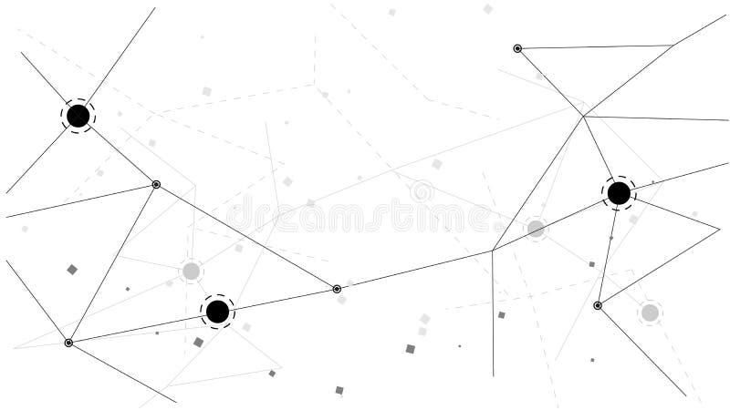 För polygondata för bakgrund abstrakt illustration för design för vektor för kommunikation för teknologi royaltyfri illustrationer