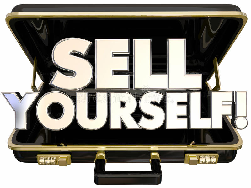 För portföljsjälv för försäljning själv framgång för befordran royaltyfri illustrationer