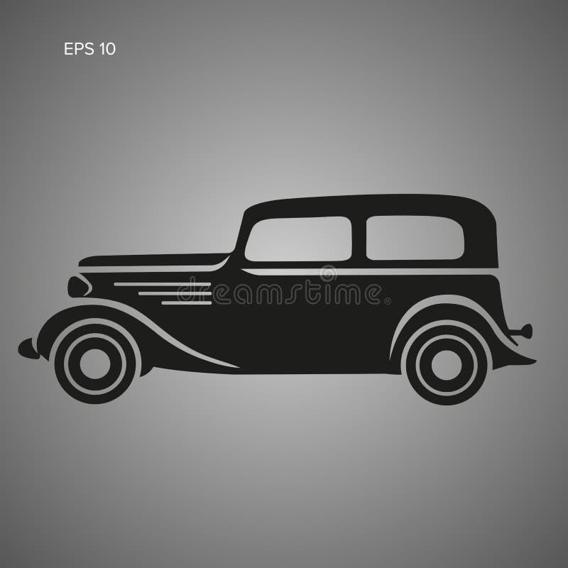 För pre-krig för gammal tappning retro illustration för vektor bil Artikel med ensamrättbil vektor illustrationer