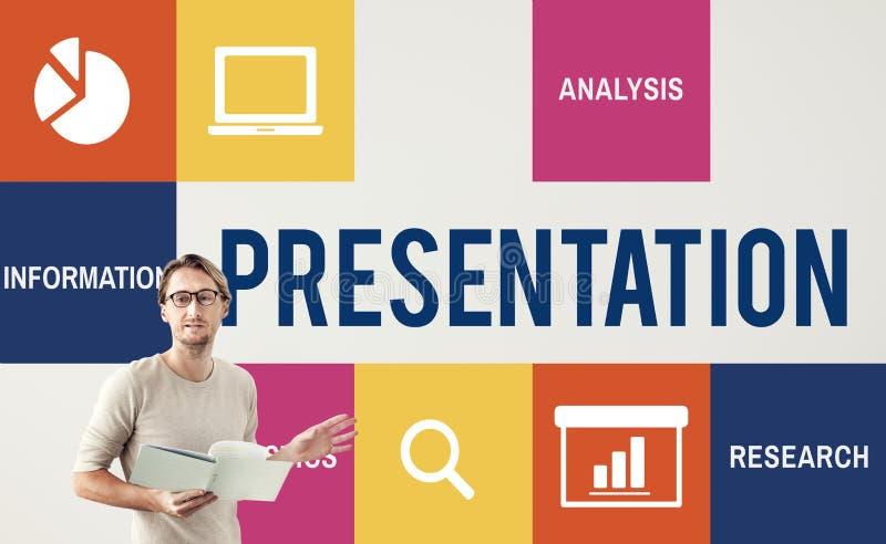 För presentationsstrategi för diskussion företags begrepp arkivfoton