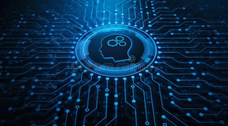 För processautomation för RPA Robotic teknologi för konstgjord intelligens royaltyfri fotografi