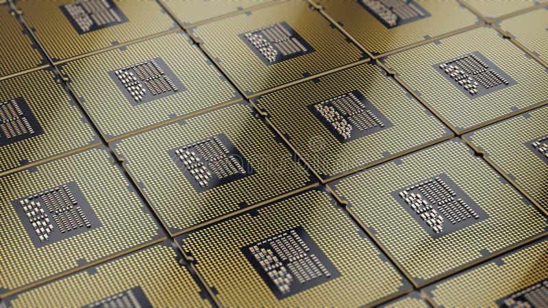 För processorCPU för central dator bakgrund royaltyfri illustrationer