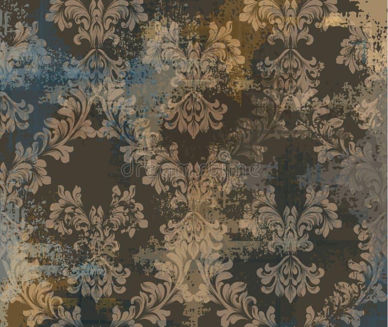 För prydnaddekor för tappning klassisk vektor för bakgrund Barock invecklad design Textur tygbeståndsdelillustrationer royaltyfri illustrationer