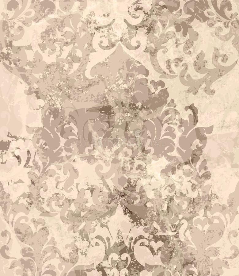 För prydnadvektor för tappning damast bakgrund Stilfulla modeller med fläckdekoren moderiktiga pastelatefärger royaltyfri illustrationer