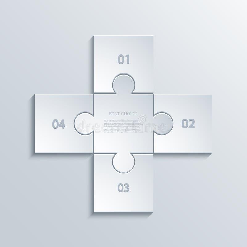 För pusselinfographics för vektor modern bakgrund stock illustrationer
