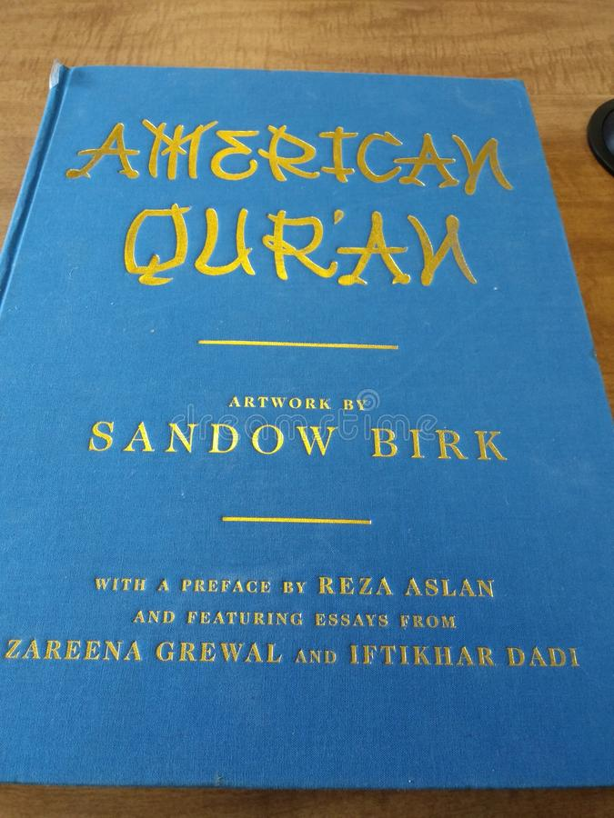 För Quranbibel för Quran nobel Quran för amerikan arkivfoto
