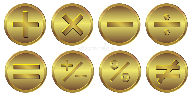 för räknemaskinguld för 8 symbol symbol vektor illustrationer