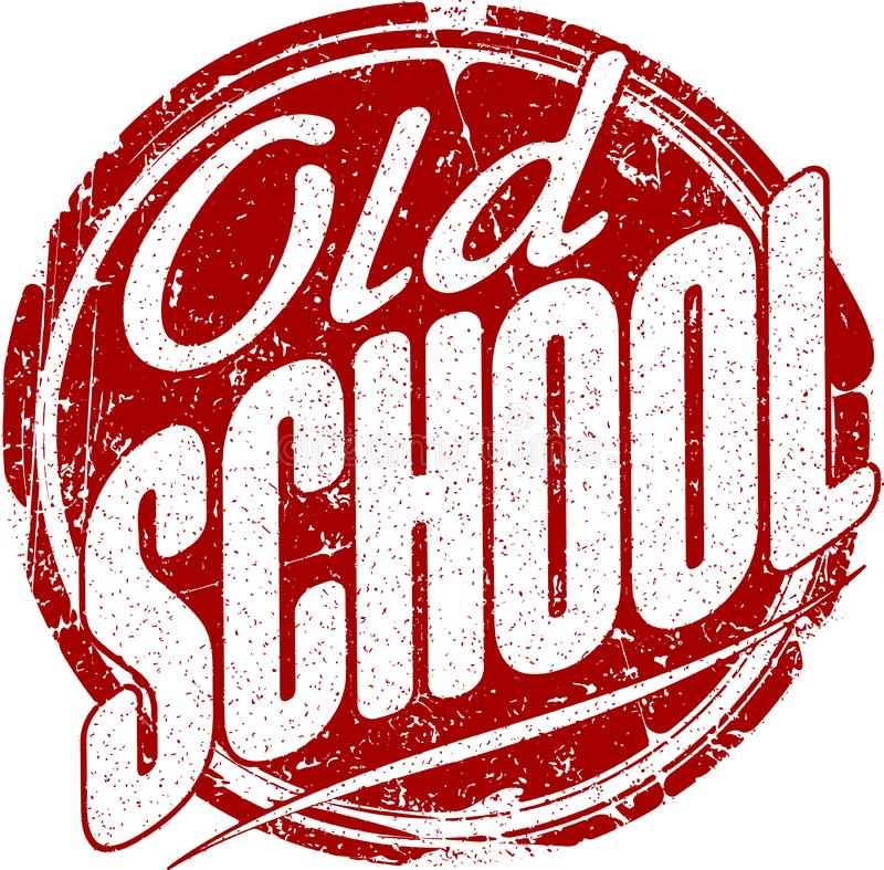 För röd rubber stämpel grungestil för gammal skola royaltyfri illustrationer