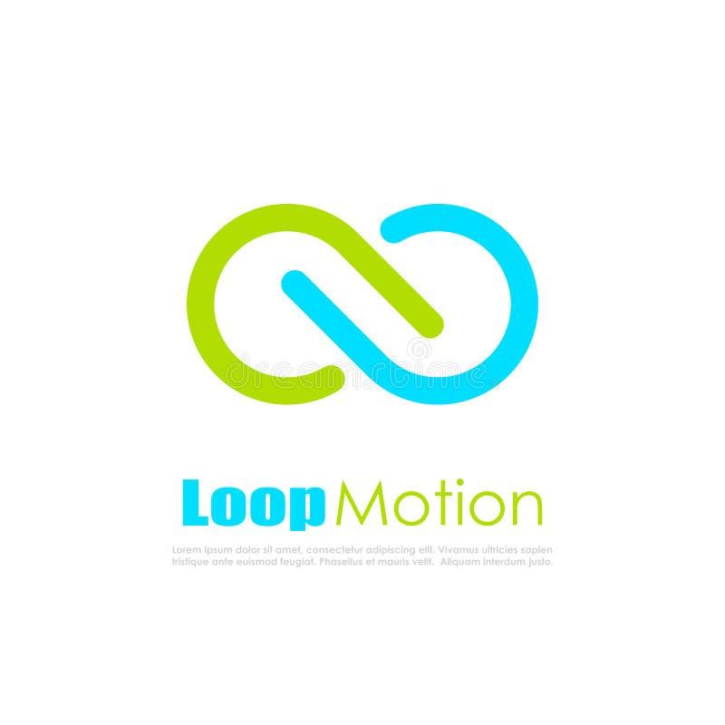 För rörelseabstrakt begrepp för oändlig ögla logo för vektor royaltyfri illustrationer