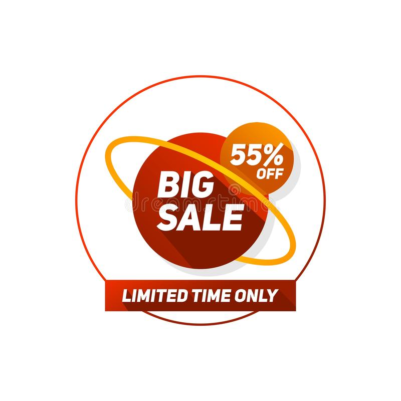 För rabattförsäljning för specialt erbjudande etikett för din affär stock illustrationer
