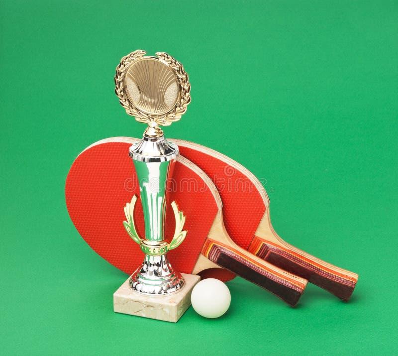 för racquetssportar för utmärkelsear grön bordtennis royaltyfri fotografi