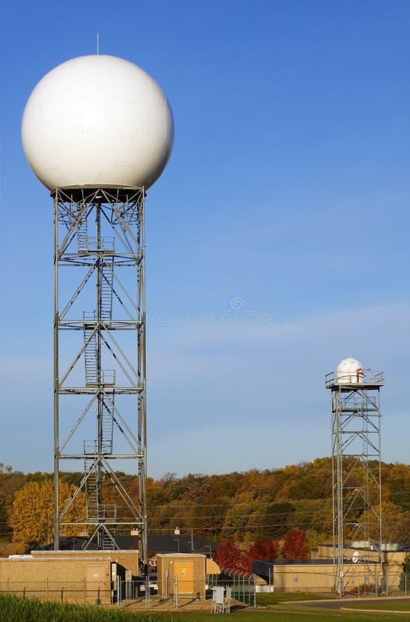 för radarservice för kupol nationellt väder royaltyfri bild
