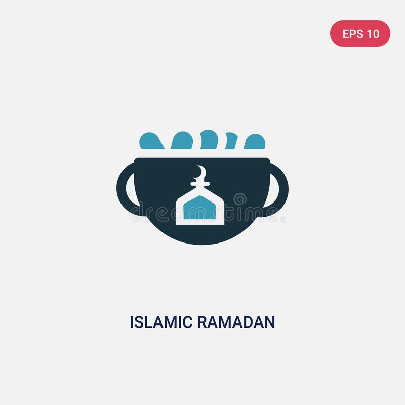 För ramadan för två färg islamisk symbol vektor från begreppet religion-2 det isolerade blåa islamiska symbolet för det ramadan v stock illustrationer