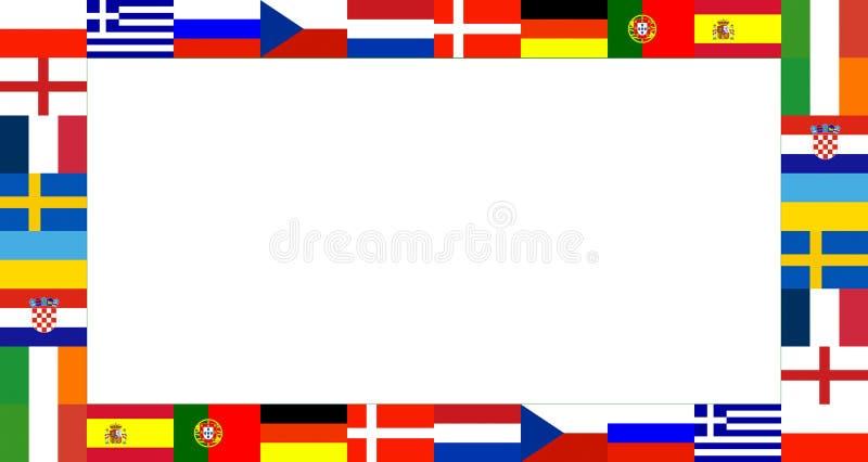 för ramnational för 16 flagga modell royaltyfri bild