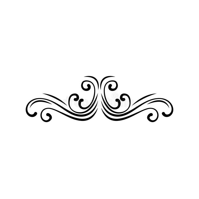 För ramsnirkel för tappning barock gräns för gravyr för prydnad också vektor för coreldrawillustration royaltyfri illustrationer