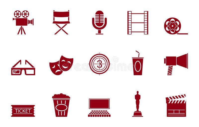 för redigerbar eps fullt set stordia symbolsfilm för 10 stock illustrationer