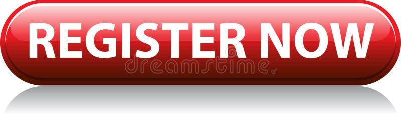 För register röd knapp nu vektor illustrationer