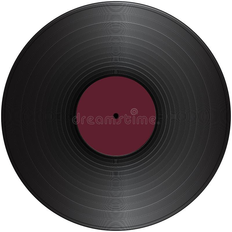 för registertappning för långt spelrum vinyl vektor illustrationer