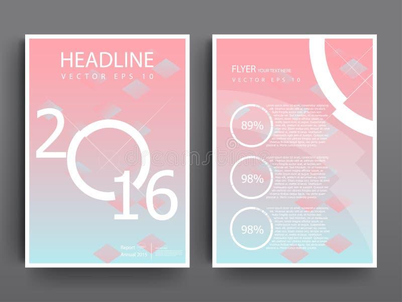 För reklambladbroschyr för abstrakt vektor moderna mallar för design royaltyfri illustrationer