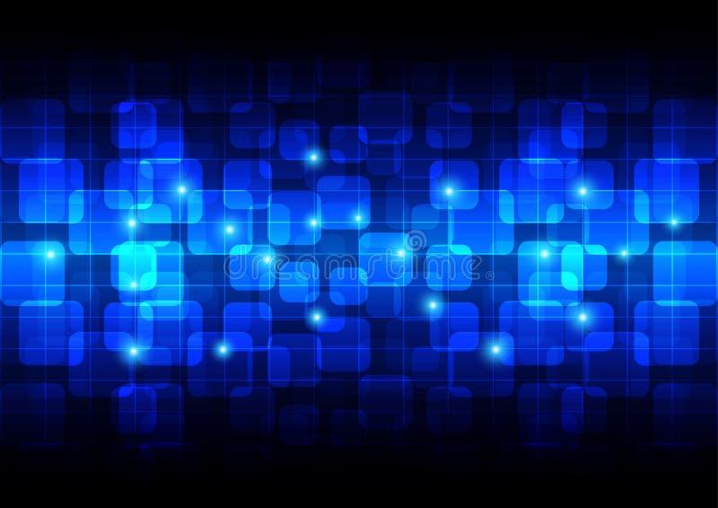 För rektangelbakgrund för abstrakt begrepp rundad teknologi stock illustrationer