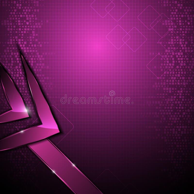 För rektangelmodell för vektor abstrakt bakgrund för begrepp för hög tech digital stock illustrationer