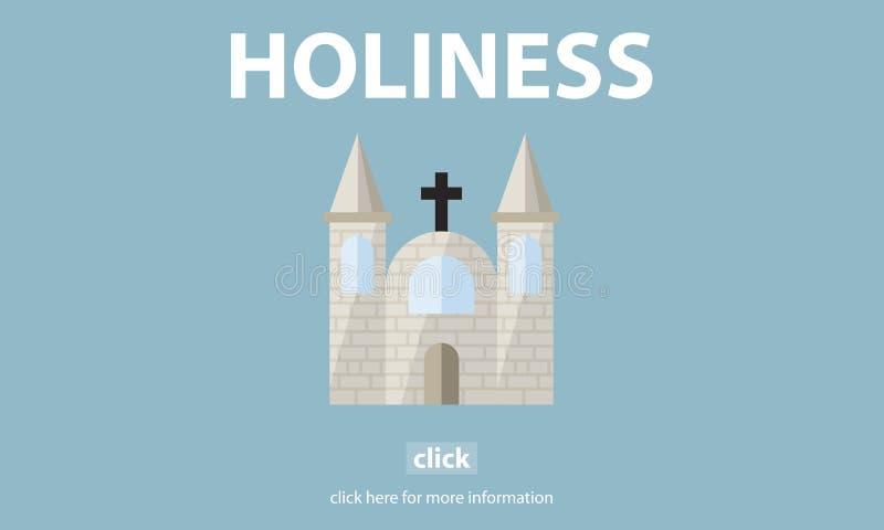 För religionandlighet för helighet heligt begrepp för kyrka för vishet royaltyfri illustrationer