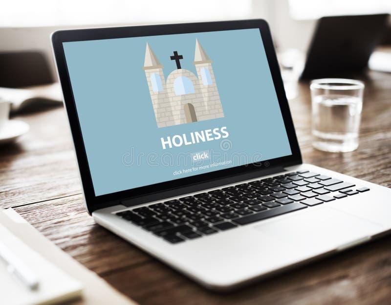 För religionandlighet för helighet heligt begrepp för kyrka för vishet royaltyfri foto