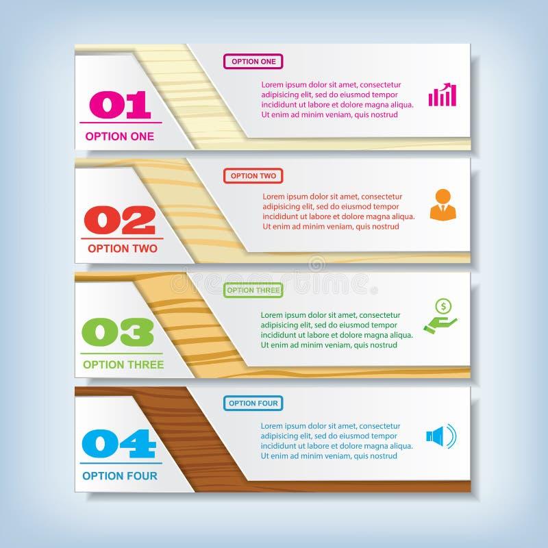 För rengöringnummer för modern design baner med den lyckade affärsidéen som används för websiteorientering Infographic stock illustrationer