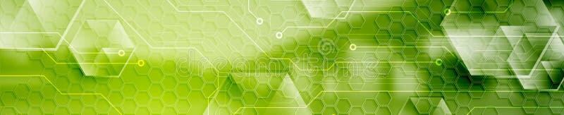 För rengöringsduktitelrad för abstrakt teknologi modernt industriellt baner royaltyfri illustrationer