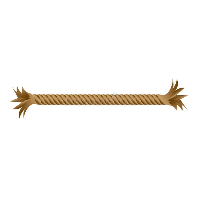 för repstycke för closeup bruten sliten symbol vektor illustrationer