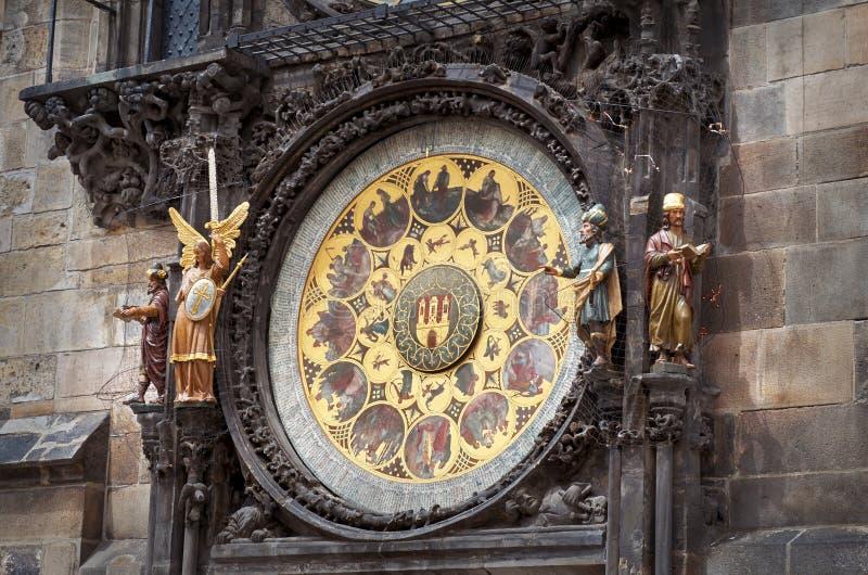 för republiktown för cesky tjeckisk krumlov medeltida gammal sikt Prague astronomical klocka prague fotografering för bildbyråer