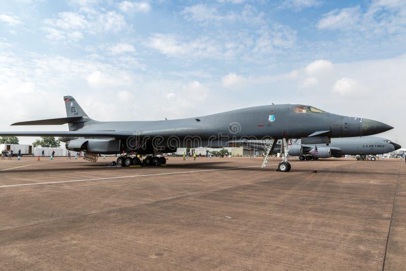 För Rockwell B-1 för USA-flygvapen nivå för bombplan lansiär arkivfoton
