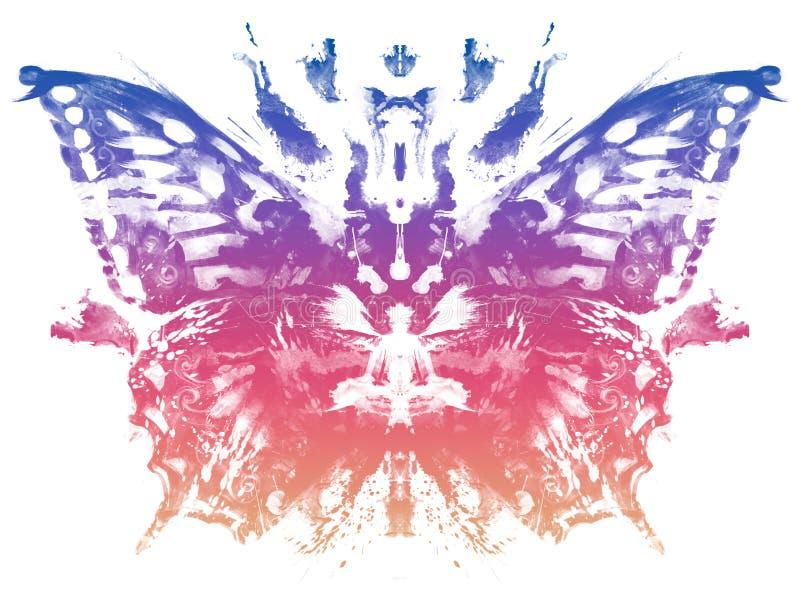 För Rorschach för fjärilsmodell stil prov vektor illustrationer
