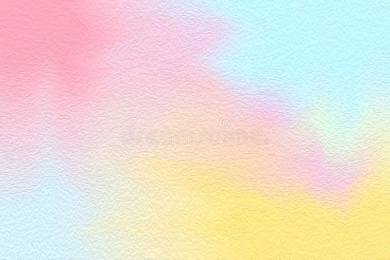 För rosa färgblått för abstrakt konst borste för målarfärg färgrik ljus på pappers- texturbakgrund, mång- färgrik färg för vatten royaltyfria foton