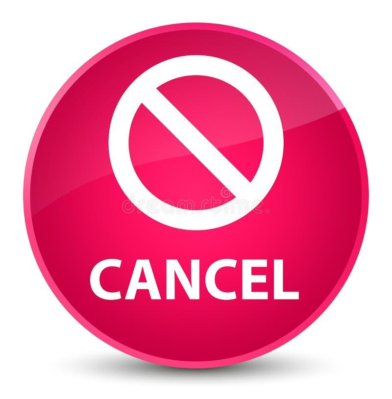 För rosa färgrunda för annullering (förbudteckensymbol) elegant knapp vektor illustrationer
