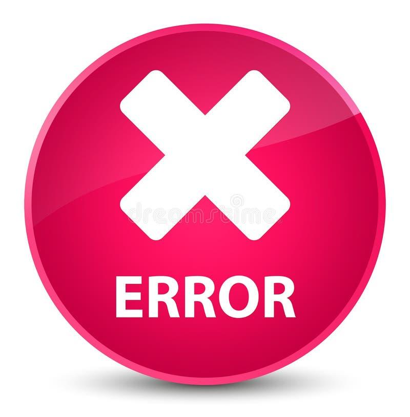 För rosa färgrunda för fel (annulleringssymbol) elegant knapp stock illustrationer