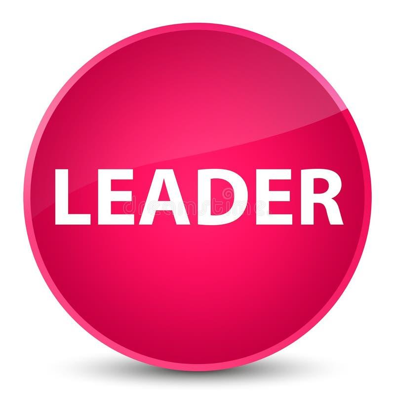 För rosa färgrunda för ledare elegant knapp vektor illustrationer