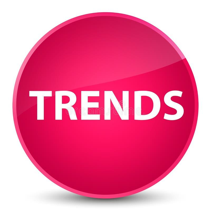 För rosa färgrunda för trender elegant knapp vektor illustrationer