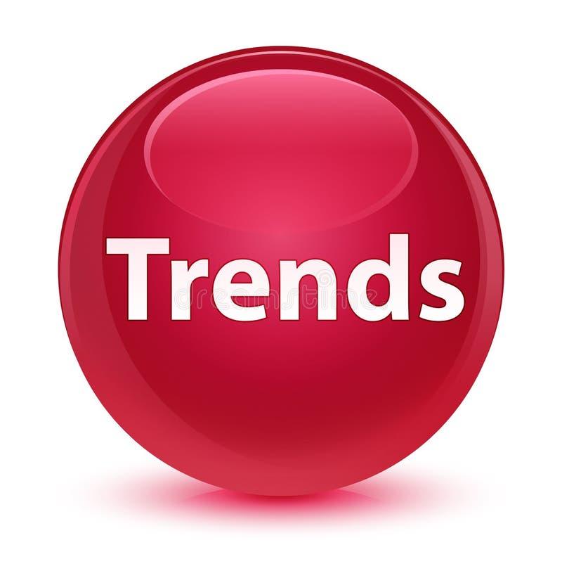 För rosa färgrunda för trender glas- knapp royaltyfri illustrationer