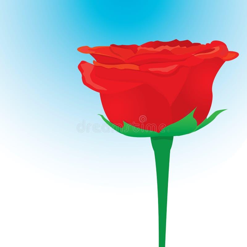 För rosblomma för vektor röd bakgrund. royaltyfri illustrationer