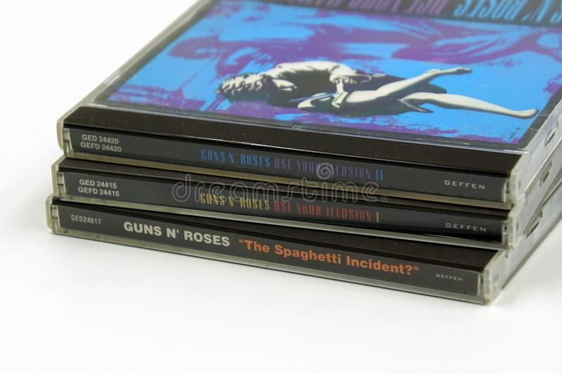För rosCD för vapen N 'album arkivfoton