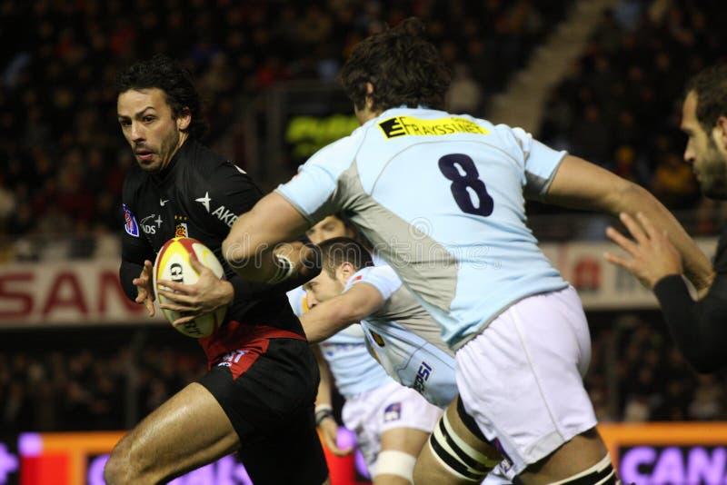 för rugbyöverkant för 14 match toulouse usap vs arkivfoto