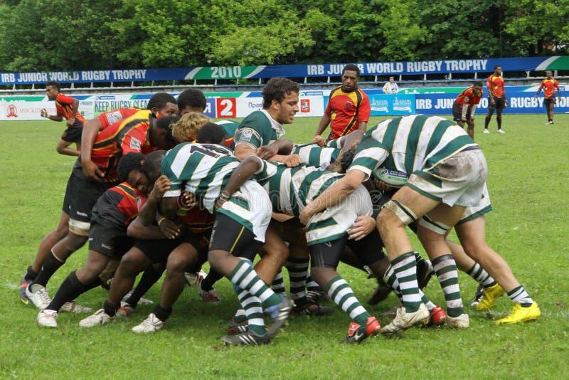 för rugbytrofé för irb yngre värld royaltyfria foton