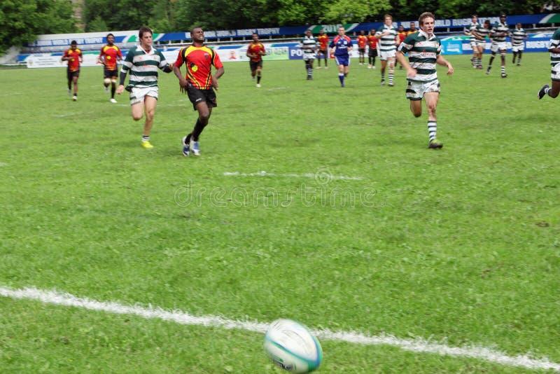 för rugbytrofé för irb yngre värld arkivfoto