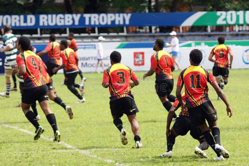 för rugbytrofé för irb yngre värld arkivbilder