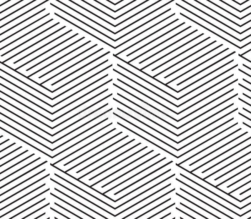 För sömlöst enkelt geometriska linjer patte bakgrundsabstrakt begrepp för vektor stock illustrationer
