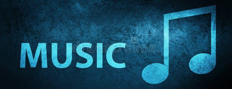 För sakkunnigblått för musik (trimma symbolen), bakgrund för baner vektor illustrationer